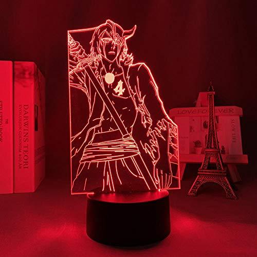 DAJIE Lámpara 3D de Anime Ulquiorra Cifer para dormitorio, decoración, luz nocturna, regalo de cumpleaños, acrílico, luz nocturna