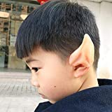 Party Masks - 1 Pair Latex Soft Pointed Prosthetic Tips Ear Fairy Pixie Elf Ears Cosplay Larp Halloween Party - Halloween Wireless Costume Glue Spirit Cheep Metal People Dollars Toddlers Pr