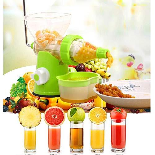 Fruchtsaft Semi-automatische Hand Juicer Apple Orange Carrot Cucumber Juice Extraktion Tool Multi-Funktion Household Portable Belt (Grün + Weiß) 260×120×210mm