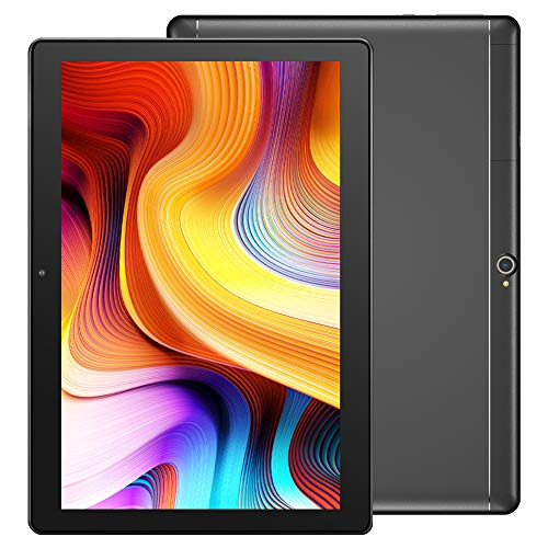 Dragon Touch 10 inch Tablet, 2GB RAM 32GB Storage, Quad-Core Processor, 10.1 IPS HD Display, Micro HDMI, Android 9.0 Pie Tablets Notepad K10 5G WiFi, Metal Body Black