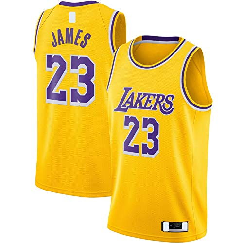 DAEYU producto popular Oro -Lakers Basketball Jersey Sudadera Los Hombres Angeles Nets #23 LeBron Swingman Jersey Icon Edition-XL