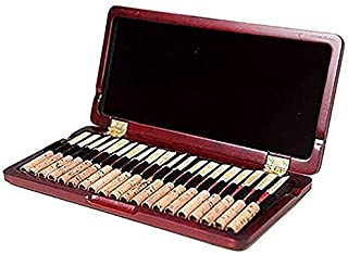 365invent Oboe Reed Case for 20pcs Reeds Maple Wooden (Red Color)