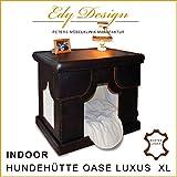 Piel Auténtica de interior Caseta Oase Indoor Dog House fabricado a mano en...