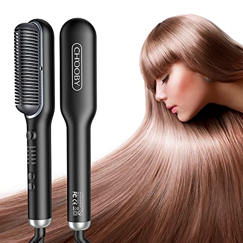 Hair Straightener Brush, Anion Straightening...