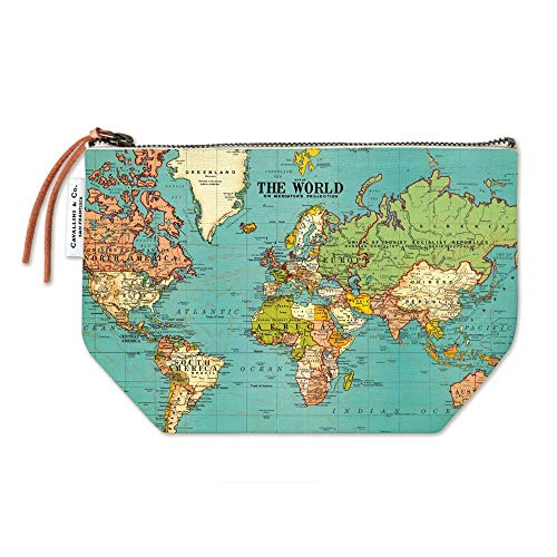 Cavallini Papers & Co. World Map Vintage Pouch