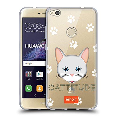 Head Case Designs Oficial Emoji Cattitude Gatos Carcasa de Gel de Silicona Compatible con Huawei P8 Lite (2017)