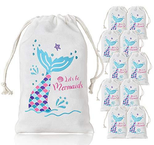 LUCK COLLECTION Meerjungfrau Partei Taschen Party Favor Treat Goodie Taschen für Kid Mermaid Party Supplies