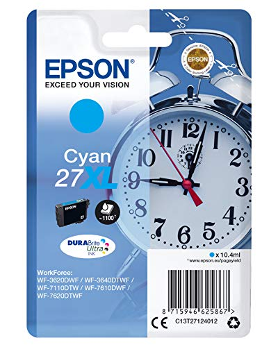 Epson 27 DURABrite Ultra Ink- Cartuccia d'Inchiostro, Blu (Cyan)