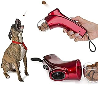 Coolrunner Pet Treat Launcher Training Dog Food Catapult auto Pets Food Thrower Puppy Snacks Feeder(Dog Food Catapult)