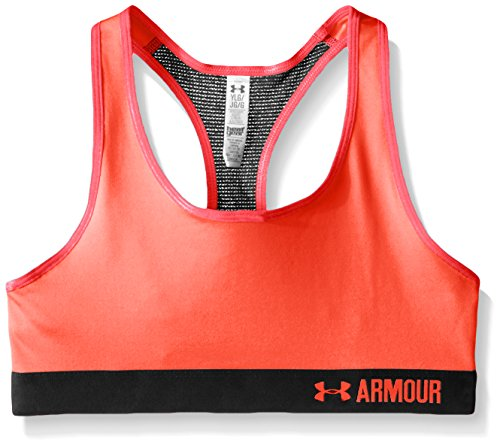 Under Armour Girls' HeatGear Armour Solid Sports Bra, After Burn (877)/After Burn, Youth...