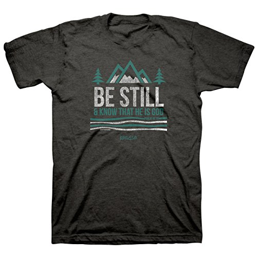 Kerusso Men's Be Still and Know T-Shirt -Tweed-LG