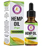 Hemp Oil Drops | 15000mg | 30ml | High Strength | Made in UK | GMP Standard | Vegan & Vegetarians
