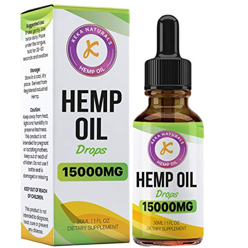 Hemp Oil Drops Dietary Supplement | 15000mg | High Strength | Made in UK | GMP Standard | No Artificial Flavours | GMO Free | Vegan & Vegetarian | 30ml