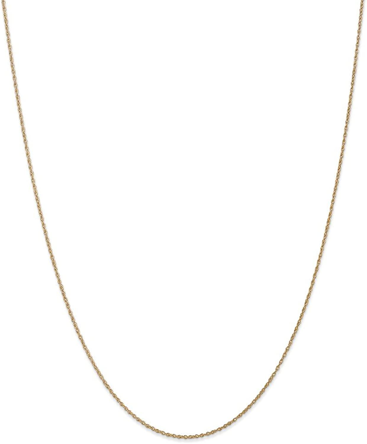 Beautiful Yellow gold 14K Yellowgold 14k .8mm LightBaby Rope Chain