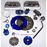 Super Color & Chrome Dress Up Kit, Blue, For Aircooled VW, Compatible with Dune Buggy...