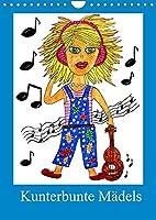 Kunterbunte Maedels (Wandkalender 2022 DIN A4 hoch): 12 lustige Maedchen in vielen Lebenslagen (Monatskalender, 14 Seiten )