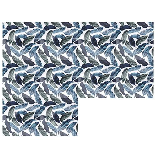 Eulbevoli Etiqueta de la Pared, Etiqueta engomada del Piso Que imita Las Hojas Verdes del Efecto del azulejo para el baño para la Cocina