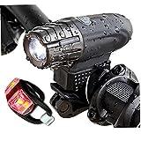 Luces de bicicleta Luces de bicicleta Carga USB Faro Faro Light Set LED Frente Atrás Ciclismo Accesorios de Seguridad, Buena Bike Anexo