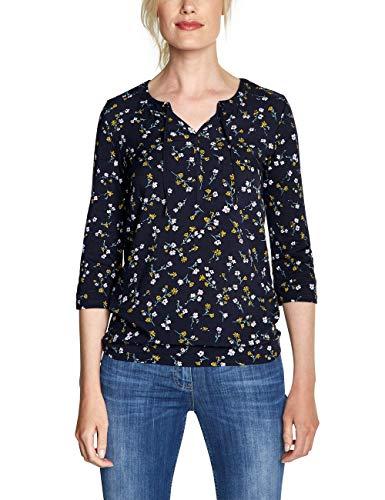 CECIL Damen 313730 Felia T-Shirt, Mehrfarbig (deep Blue 30128), X-Small (Herstellergröße:XS)
