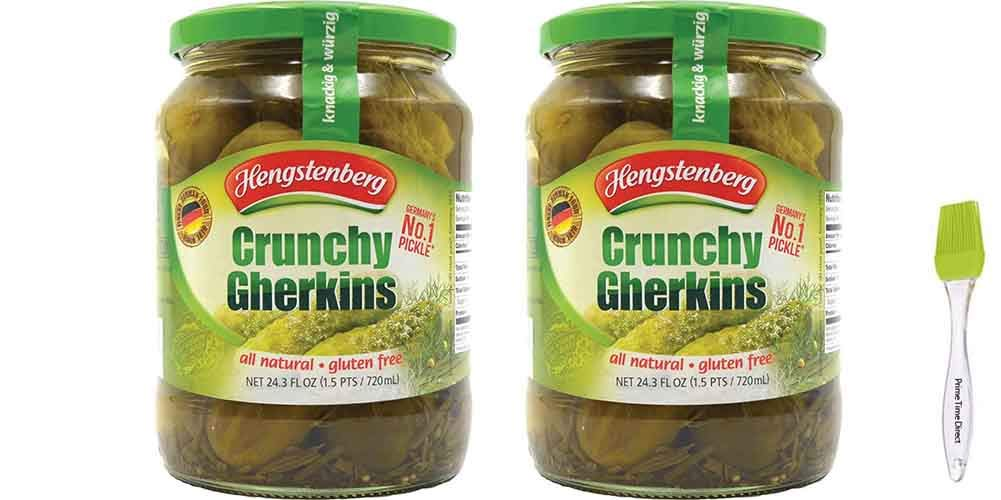 Hengstenberg Crunchy Gherkins German Today's only Pickles 24.3 Brand Cheap Sale Venue of Pack oz 2