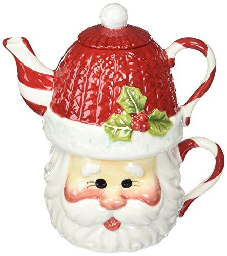 Cosmos Gifts Service à thé Père Noël pour 1 Personne, 16,5 cm