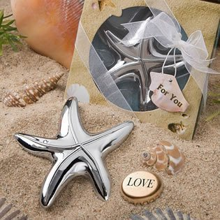 Starfish Design Bottle Opener Wedding Favors, Pack of 48