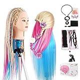 Modèle d'entraînement Beautystar de coiffure avec cheveux longs de 61cm 100% fibre haute température et pince de serrage