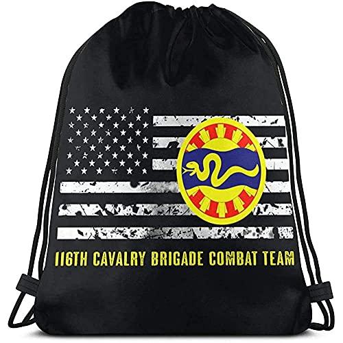 ZB-BIN 116th Caballería Brigada Combat Team Mochila con cordón para el hombro, bolsa de gimnasio
