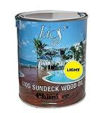 Chimiver Olio impregnante Neutro per Il Trattamento di superfici in Legno da Esterno LIOS SUNDECK Wood Oil Light | Latta da 1L.