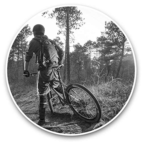 Vinyl Stickers (Set of 2) 15cm Black & White - Mountain Bike BMX Trail Racing Laptop Luggage Tablet #41337