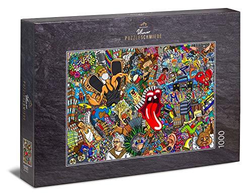 """Ulmer Puzzleschmiede - Puzzle """"Graffiti"""": Puzzle de 1000 piezas - Grafitis de Streetart sobre el tema de la música, el hip-hop y el estilo de vida"""