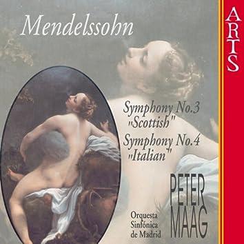 Mendelssohn-Bartholdy: Symphonies Nos. 3 & 4