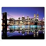 HommomH 60' x 80' Blanket Throw Comfort Thin Soft Air Conditioning New York City Skyline-Brooklyn Bridge