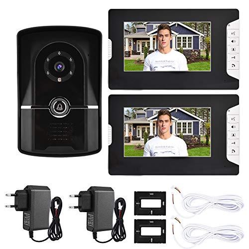 7  Videocitofono con citofono cablato Kit citofoni con citofono Home Entry System 1V2 813FG12 con funzione di monitoraggio e funzione di sblocco remoto Telecamera da interno e videocamera esterna(EU)