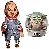 Child's Play Figura Chucky El Muñeco Diabolico 38cm con Voz + Star Wars Star Wars Baby Yoda El niño ...