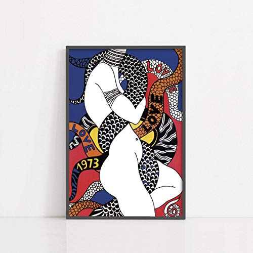 Torenio Yve_s Sain_t Lauren_t Y_S_L Love Poster 1973 | Fashion Poster | Exhibition Print | Typography Posters | Love Prints | Girl Wall Decor 11x17 16x24 24x36 Inch (No Frame)