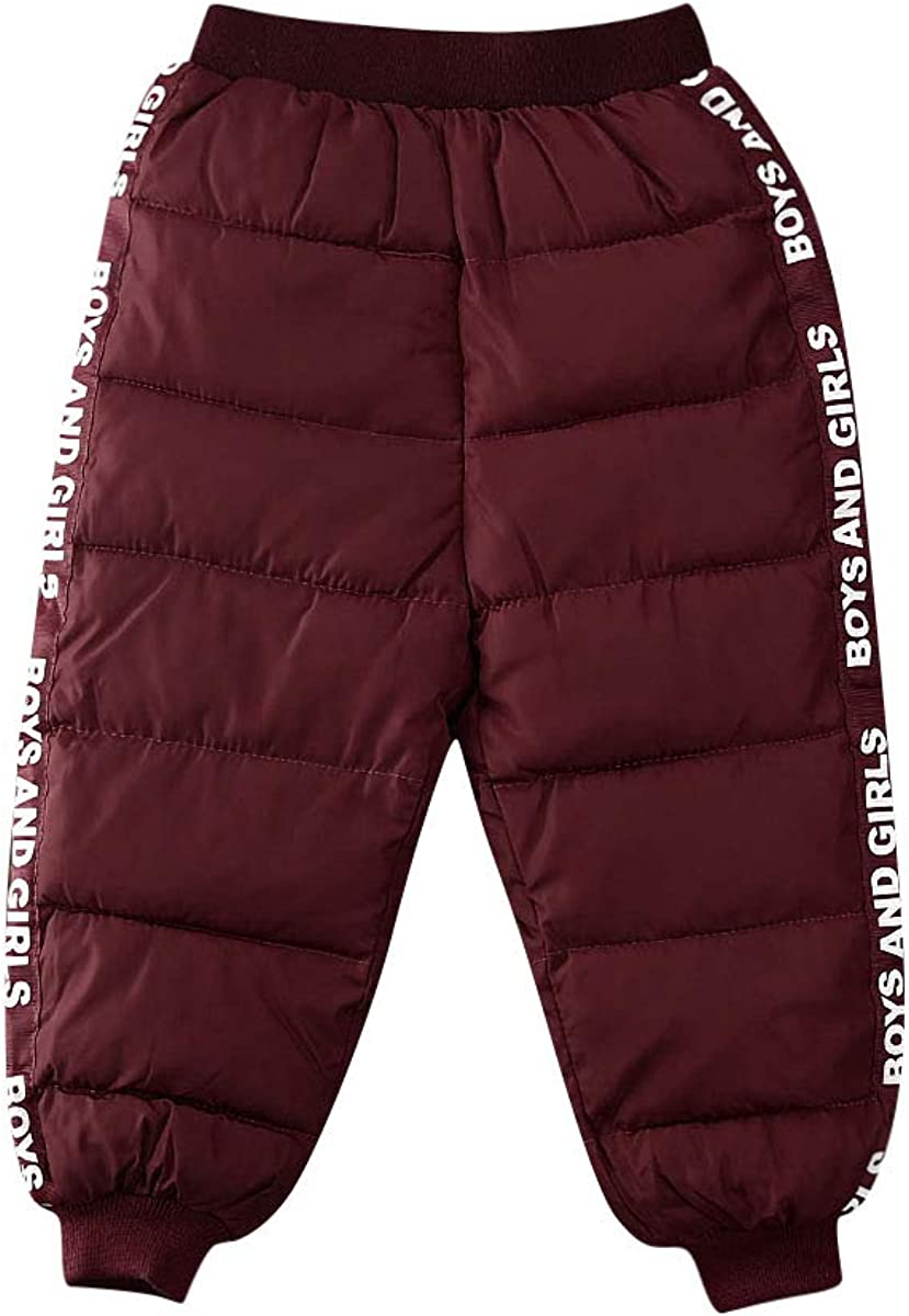 Toddler mart Newborn Baby A surprise price is realized Boy Girl Print Pants Snow Letter Windproof