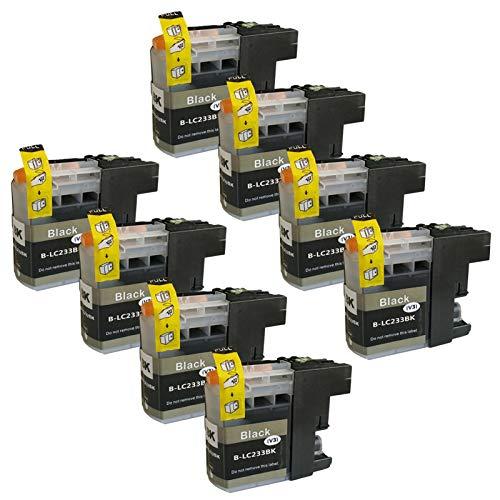 SXCD LC233 - Cartuchos de tinta para Brother MFC-J5720 J4120 J4620 J480DW J5320 J680DW DCP-J562DW compatible con 4 colores negro x 8