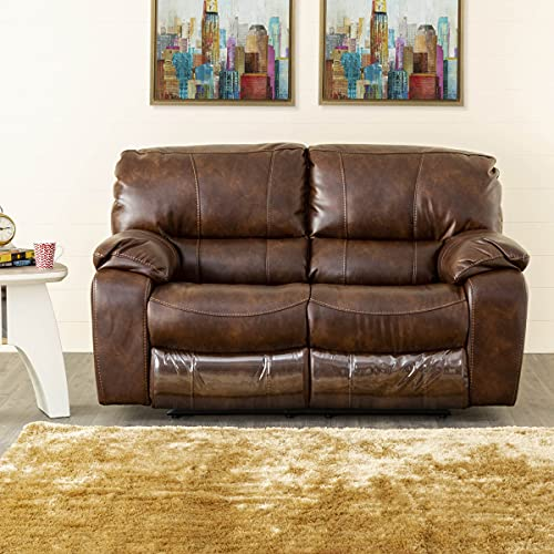 Home Centre Apollo Faux Leather Recliner-2 Seater Brown