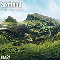 Bright Day Calendars 2021スコットランドの壁カレンダー バイ 明るい日、12 x 12 インチ、ヨーロッパ旅行先