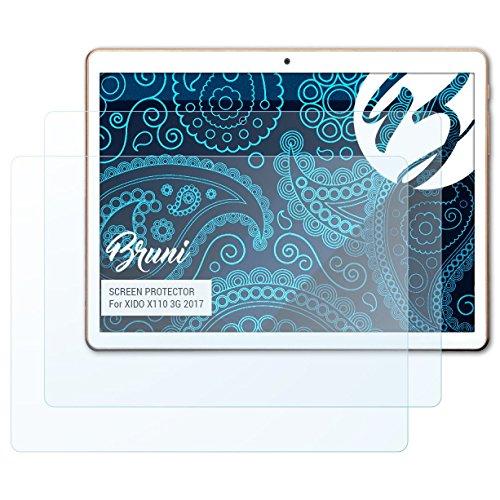 Bruni Schutzfolie kompatibel mit XIDO X110 3G 2017 Folie, glasklare Bildschirmschutzfolie (2X)
