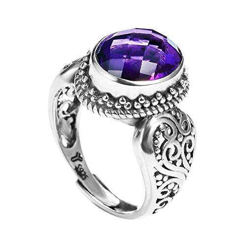 Yameng 925sterling Silver viola cristallo anello da donna