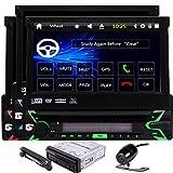 EinCar 8 Go Carte 7inch Simple 1 din Voiture Automobile Radio Stereo GPS Nav Dash Wince Headunit Bluetooth écran Tactile HD Autoradio Façade Amovible USB SD Aux Subwoofer FM AM RDS Voiture DVD + Télé