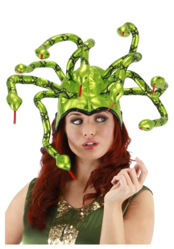 Elope Medusa Shiny Hat, Green, One Size