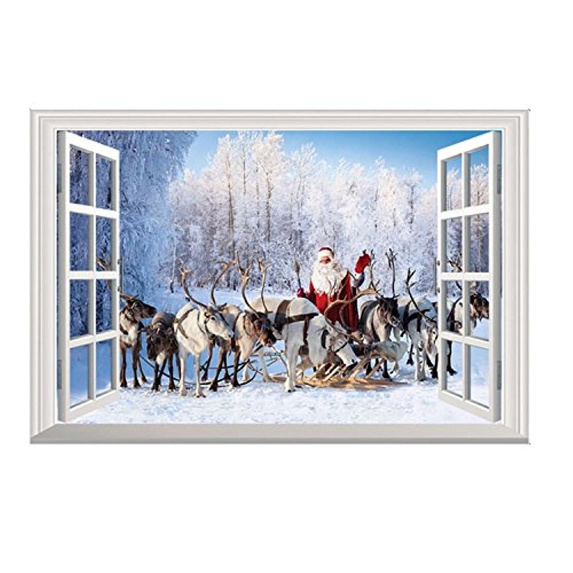 スキーバスケットボール衝突OUYOU ウォールステッカー クリスマス クリスマス 飾り 剥がせる シール式 装飾 ツリー 壁紙 雑貨 ガラス 窓 DIY サンタ 部屋 店舗装飾
