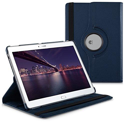 kwmobile Schutzhülle kompatibel mit Huawei MediaPad M2 10.0 - Hülle 360° Tablet Cover Hülle Dunkelblau