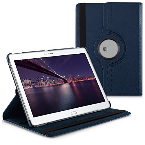 kwmobile Hülle kompatibel mit Huawei MediaPad M2 10.0-360° Tablet Schutzhülle Cover Hülle Dunkelblau