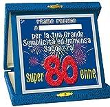 Dor TARGHETTA 80 Anni Glitter Gadget Festa 80 Anni - Compleanno Targa Ottantenne