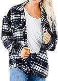 NDCATHE Camisa de guisante de ajuste holgado para mujer con bolsillos
