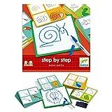 DJECO- Juegos Educativos Eduludo by Step Animals, Multicolor (DJ08319)